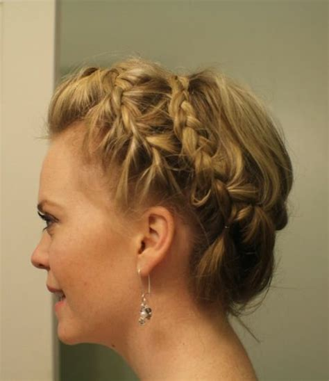 short hairstyles for double crowns 57 best images about updos for medium length hair on