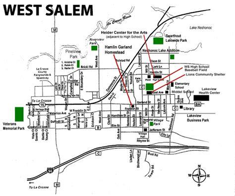 map of downtown salem oregon west salem wisconsin west salem map