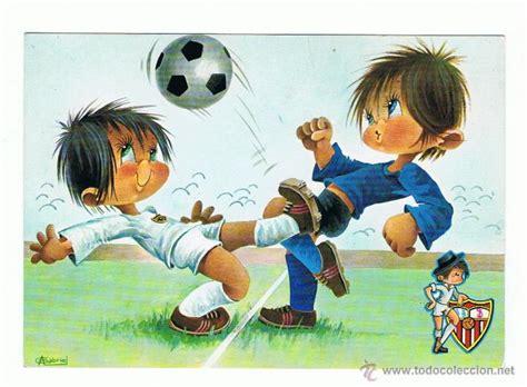 imagenes infantiles niños jugando futbol postal dibujo de ni 241 os jugando al f 250 tbol sevil comprar