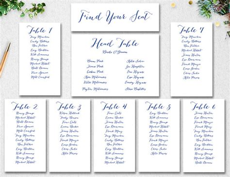 printable seating chart wedding printable maps