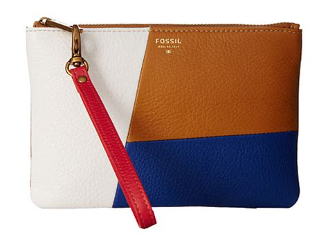 Fossil Gift Patchwork Bifold Multy fossil patchwork wristlet pouch neutral multi zappos free shipping both ways