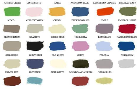 sloan color chart sloan chalk paint color chart the painted attic