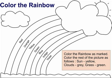 Pictures Of Rainbows To Color by Learning In Color Rainbow Coloring Pages For