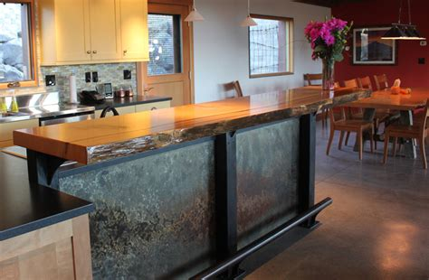 Curved Kitchen Island by Our Work