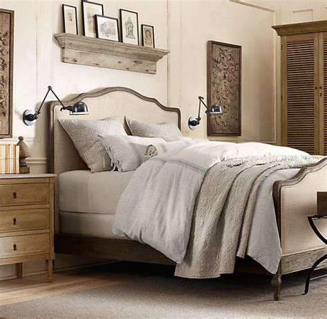 lorraine bed without footboard restoration hardware