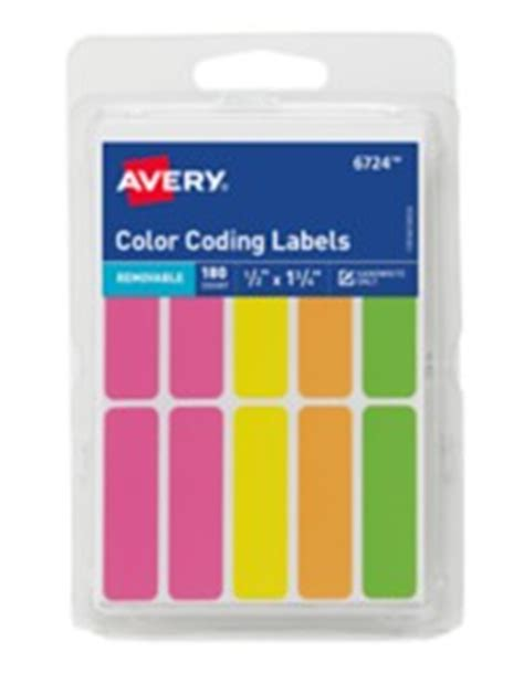 template for avery color coding labels avery assorted neon removable color coding labels