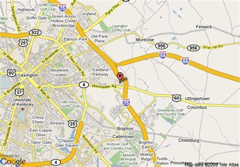 kentucky map i 75 map of hton inn i 75