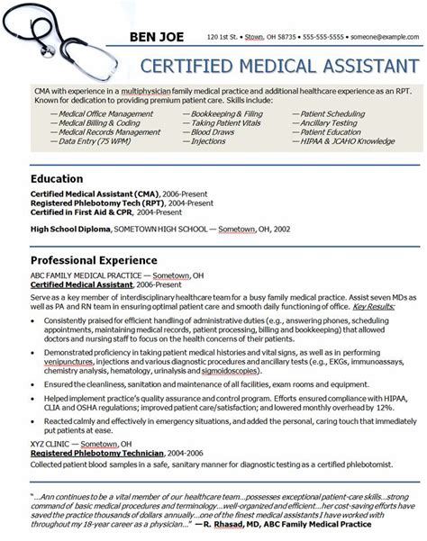 Physician Assistant Resume Template by Assistant Sle Resume Sle Resumes