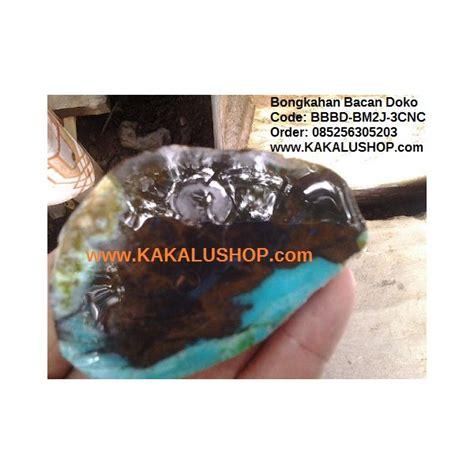 Bacan Doko 3 bongkahan batu bacan doko untuk bahan 3 cincin batu bacan