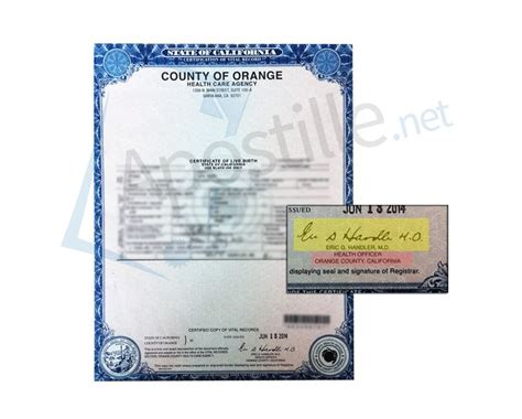 Orange County California Vital Records Birth Certificate 71 Best Images About State Of California Sle Apostille On Santa