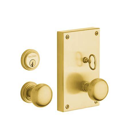 Set Door Knobs by Baldwin Estate 6550 Georgetown Mortise Entrance Set Low