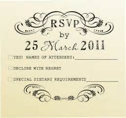 Obituaries Exles Templates by Rsvp Exles For Wedding Invitations Wedding Invitation