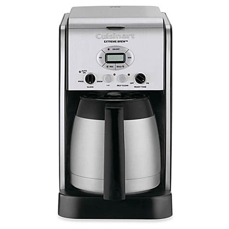 bed bath and beyond cuisinart buy cuisinart 174 extreme brew 10 cup programmable coffee