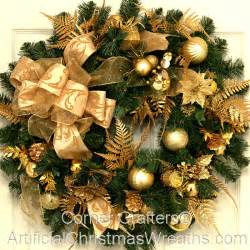 golden splendor christmas wreath