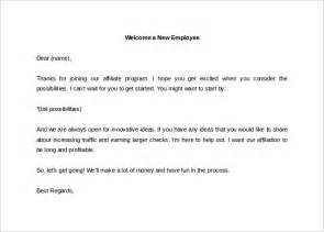 new employee email template 31 hr welcome letter template free sle exle