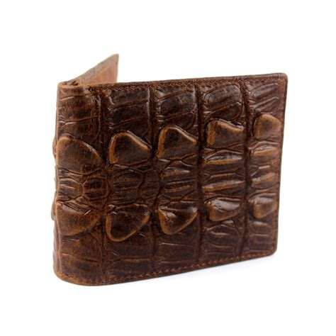 leather wallet pattern trifold men vintage leather crocodile pattern embossed trifold id