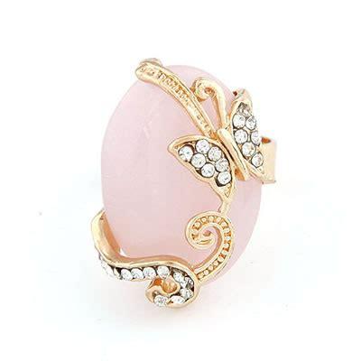 Diskon Gelang Korea Multi Charm Butterfly dreamlike pink butterfly alloy korean rings asujewelry