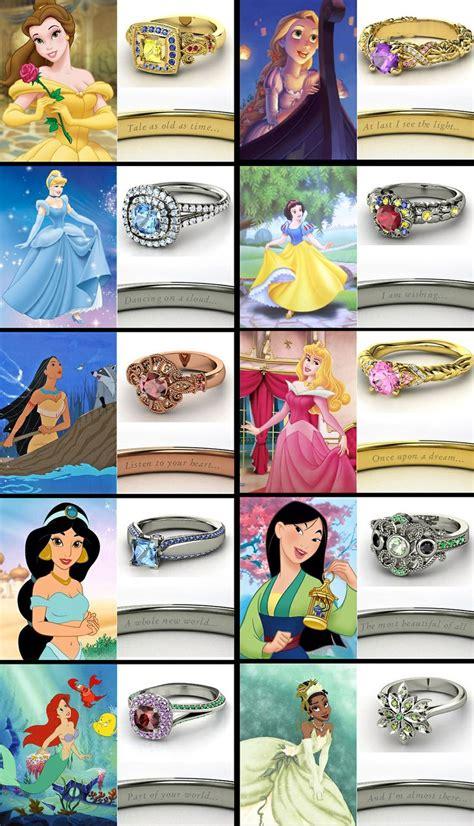engagement rings wedding disney princess