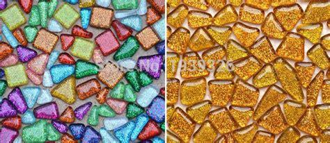 colorful glitter irregular mosaic beads  pcs diy glass