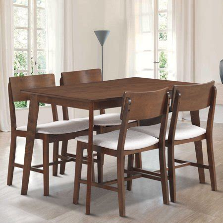 mid century modern kitchen chairs gymax 5 pcs mid century modern dining table set kitchen