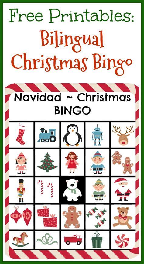 printable christmas cards spanish free printables bilingual christmas bingo ladydeelg