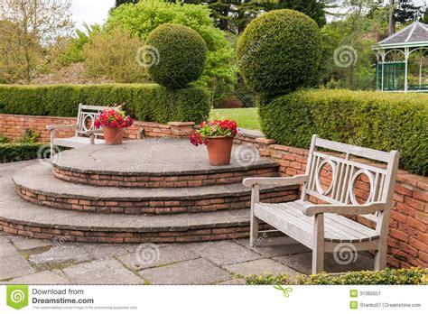 park bench scene park scene stock image image of bricked botanic