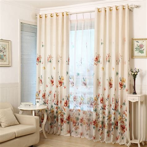 Living Room Window Curtains by 2016 Printed Shade Window Blackout Curtain Fabric Modern
