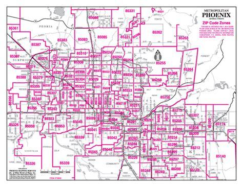 printable phoenix area map zip codes map phoenix zip code map