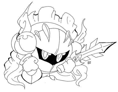 meta knight coloring pages coloring home