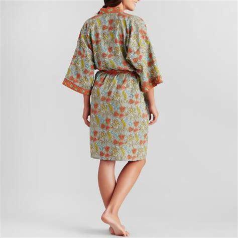 coral and gray floral kamala robe world market