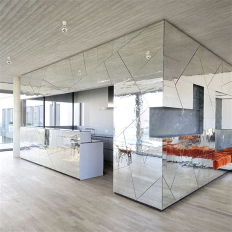 home interior mirror futuristic penthouse with mirror walls digsdigs