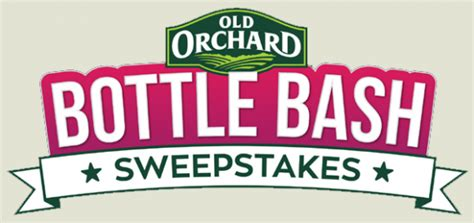 Winnable Sweepstakes - old orchard 20th anniversary bottle bash sweepstakes