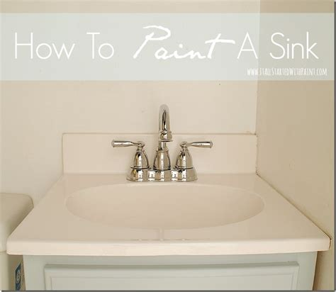 how to paint a bathroom sink how to paint a sink
