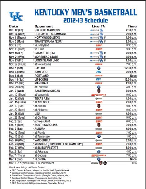 printable kentucky basketball schedule 2014 15 louisville basketball schedule 2014 printable party