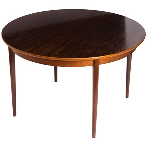 gustav bahus rosewood dining table with 2 leaves for sale