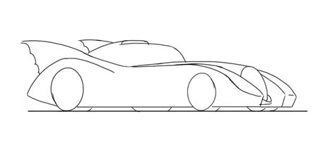 easy car to draw for junior car designer how to draw the batmobile2 junior car designer