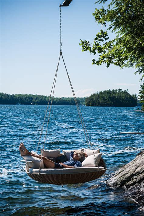 swings over the ocean dedon swingrest hanging lounger by daniel pouzet
