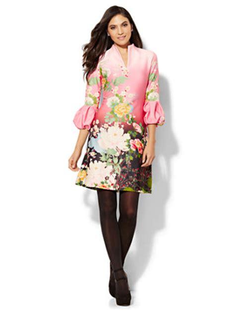 Sleeve Floral Sheath Dress ny c balloon sleeve sheath dress floral