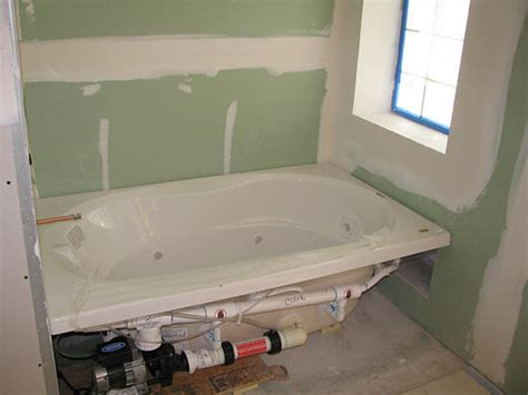 installation of bathtub lightyear sunken bath project 171 remodeling for geeks