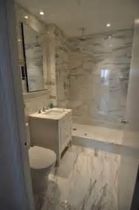 calacatta marble bathroom contemporary powder room