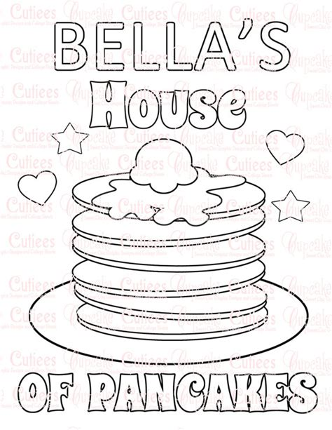coloring pages of pan cake pancake party custom name coloring pages by