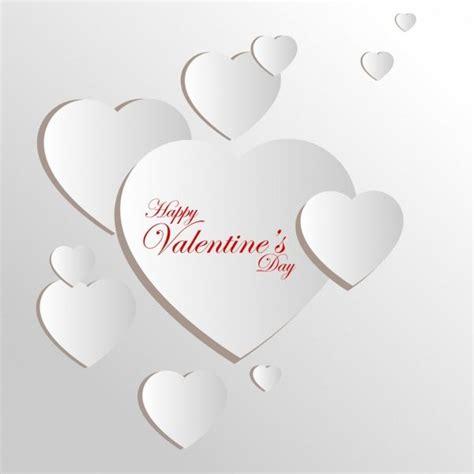 free 3d valentines card templates خلفيات فكتور قالب بطاقة عيد الحب زخرفة قلب ابيض