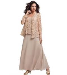Mother of the bride dress with lace top and long sleeve lace jacket