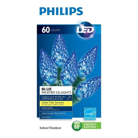 philips blue led c6 string lights