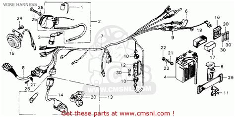 honda mt125 elsinore k1 1975 usa wire harness schematic