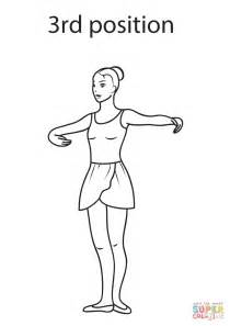 ballet 3rd position coloring page free printable