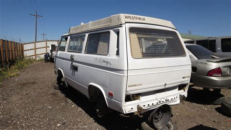 volkswagen westfalia 2016 junkyard find 1982 volkswagen vanagon westfalia the