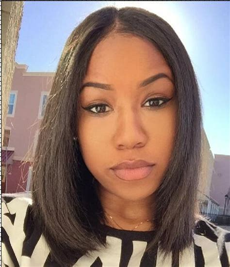 middle part black hairstyles peruvian hair middle part straight hair wigs human hair