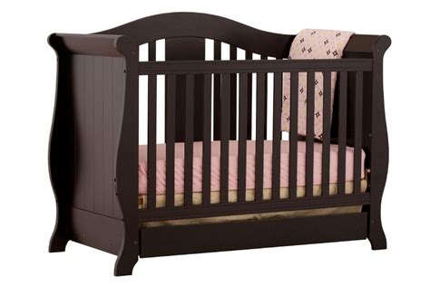 Sears Baby Beds Cribs by Storkcraft Vittoria 3 In 1 Fixed Side Convertible Crib Black