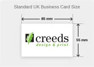 dimensions for a business card what is a standard business card size creeds design print dorset uk